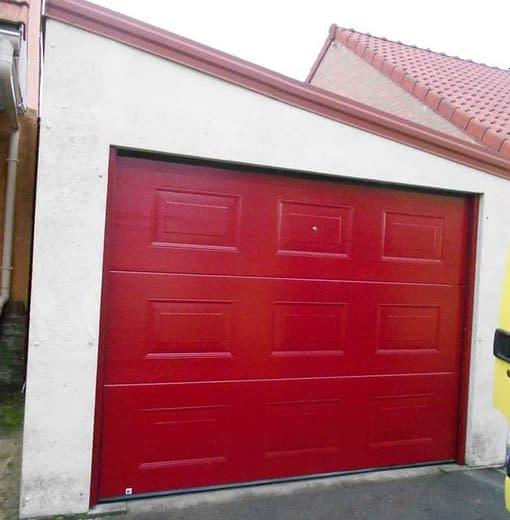 Pose de porte de garage à Haillicourt