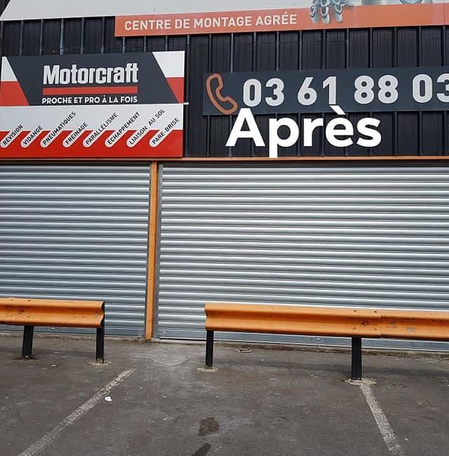 Pose de rideau métallique à Auchel